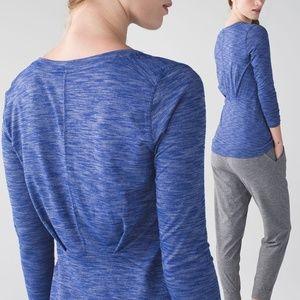 lululemon athletica Tops - Lululemon &go Everywhere Blue Long Sleeve Tee 4